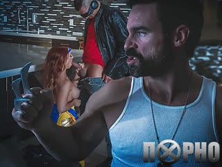 Порно пародия, Люди икс, X-MEN, Dani Jensen, косплей, порно, сек
