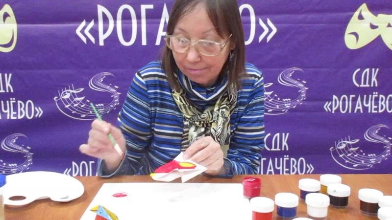 Мастер класс Бумажные птички в технике оригами Роспись 2 часть