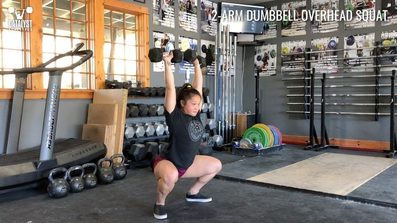 2- arm Dumbbell Overhead Squat - Olympic Weightlifting Exercise Library - Catalyst Athletics