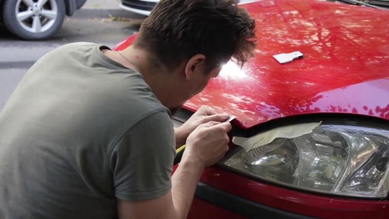 Удаление сколов краски с капота перекраска. На примере Opel Corsa C Z14XEP