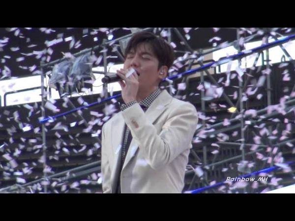 [직캠] 20160415 LeeMinHo--그때처럼(The Day)--Lotte Family Festival~~by Rainbow_MH