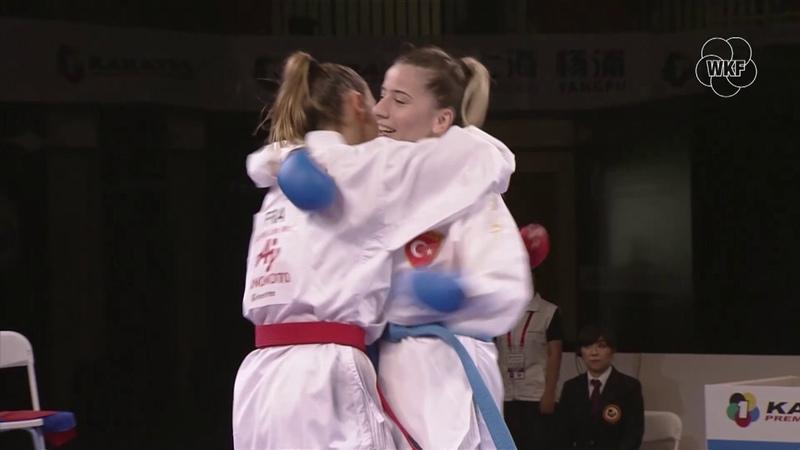 Top moments of 2019 Karate 1-Premier League A. Recchia vs S. Ozcelik