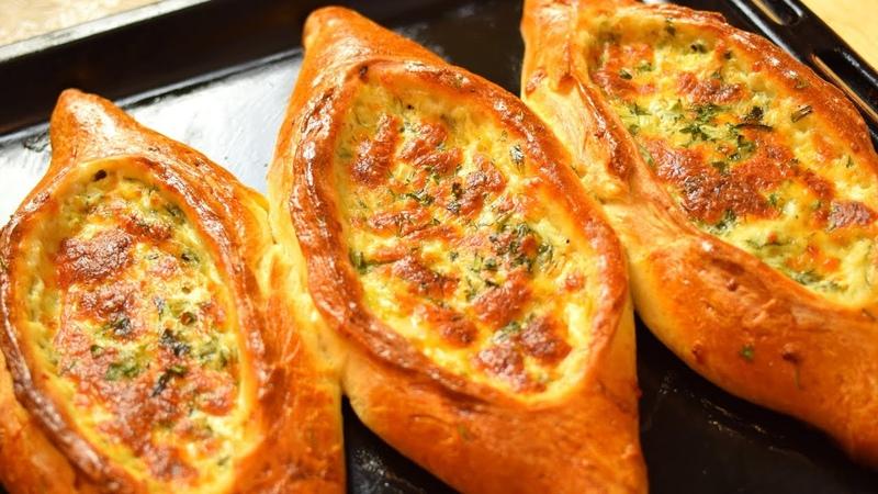 Хачапури по - Аджарски. Как приготовить Аджарские хачапури. КНОПКА от YouTube Мамины рецепты