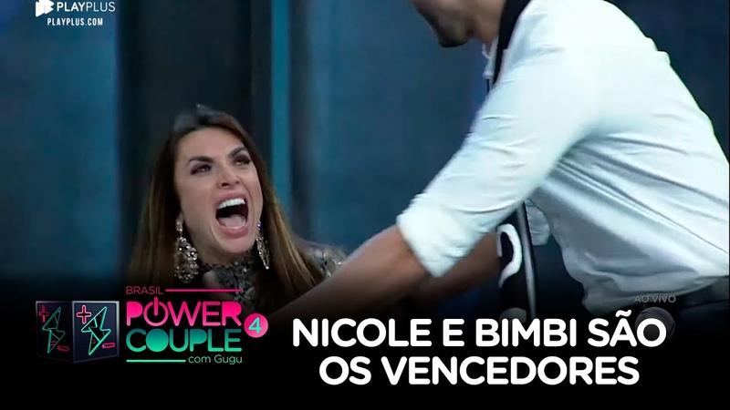 Nicole Bahls e Marcelo Bimbi venceram o Power Couple Brasil 4 ao receber % dos votos do público