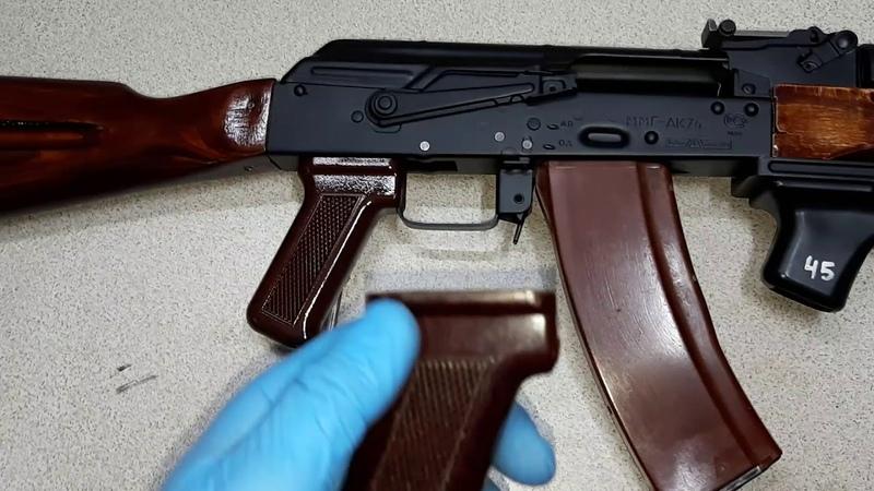 Обзор Страйкбольный привод АК 74 из ММГ бакелитовая пистолетная рукоятка для тонкого мотора Ares