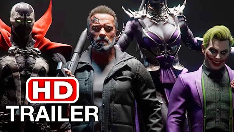 MORTAL KOMBAT 11 Terminator Vs Joker Spawn Trailer MK11 Kombat Pack 2019 HD