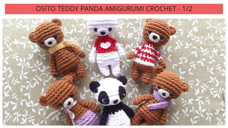 OSITO TEDDY PANDA AMIGURUMI CROCHET - 1/2