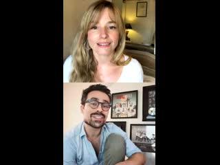 Cécilia Cara et Damien Sargue - LiveStream in Instagram