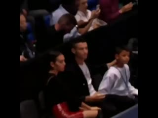 _gb_ tb when cristiano was watching tennis with his family_tennis__rolling_on_the_floor_laughing__family_man_woman_boy_ • _fi_ t
