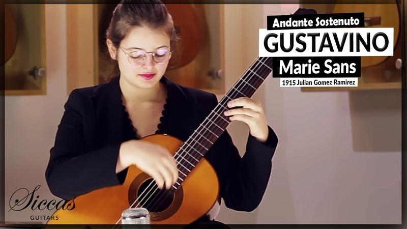 Marie Sans plays Andante Sostenuto from the Sonata 2 by Carlos Guastavino on a Julian Gomez Ramirez