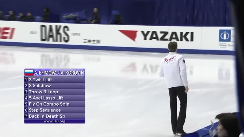 Pairs Short Program NHK Trophy 2019 @GPFigure Full HD