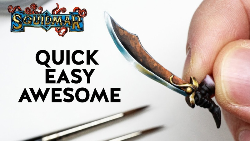 Paint Weapons QUICK - EASY - AWESOME! ⚔️⛏️⚔️ Warhammer DnD miniatures NMM painting tutorial