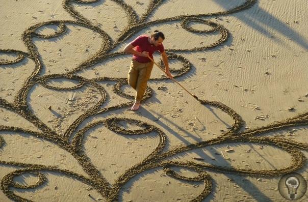 УЗОРЫ НА ПЕСКЕ. Ч.-1 Медитативный фотопроект о красоте под нашими ногами.Кажется, кто-то потратил много времени, чтобы создать эти красивые узоры на песке. Одни имитируют морские волны, другие
