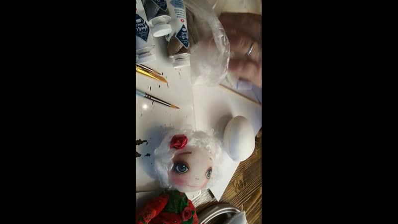 Роспись лица текстильной куклы. Мк в Белой вороне