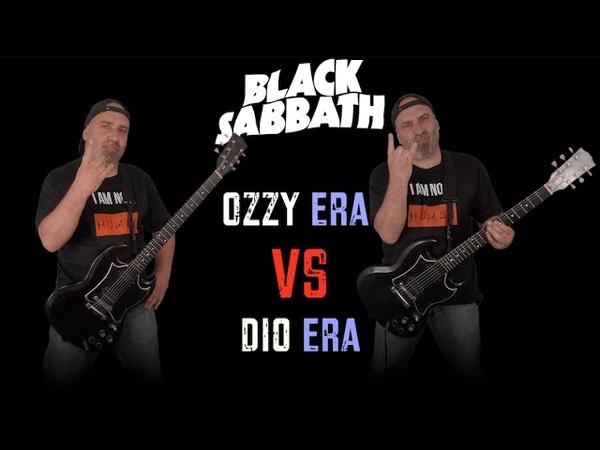 Black Sabbath - Ozzy Era VS Dio Era (Guitar Riffs Battle)