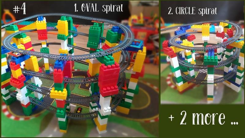 4 Cool SPIRAL Railways Toy Trains| BSQ Power Train World | 4 Крутых Спиральных Трека