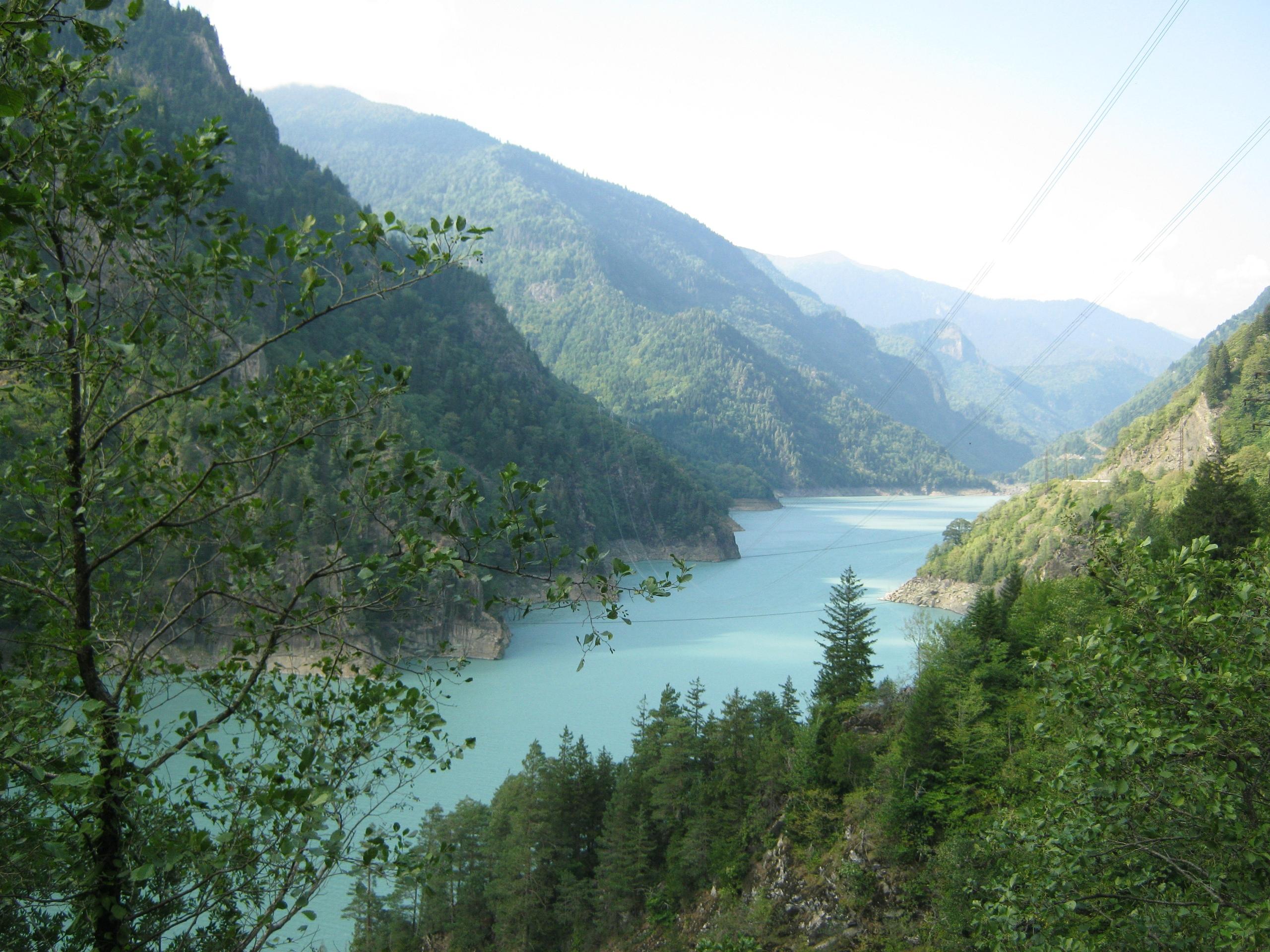 водохранилище в Верхней Сванетии