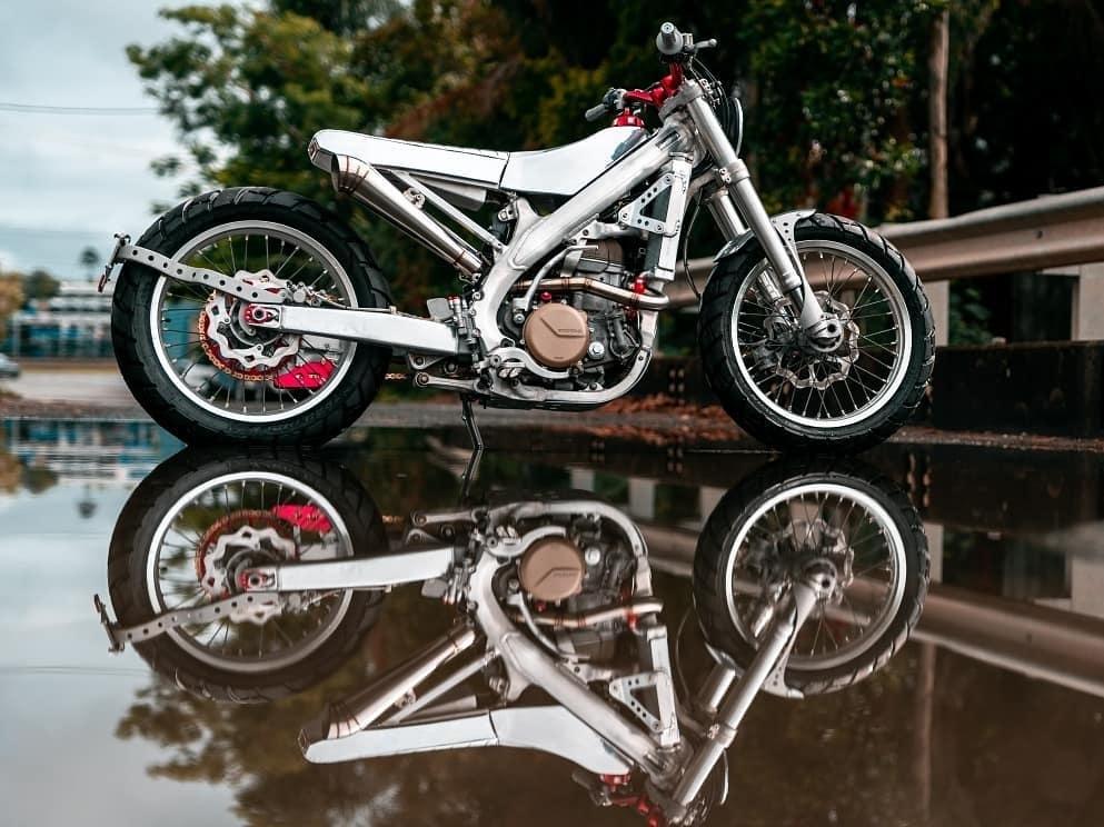 Black Cycles: кафе кросс Honda CRF450X