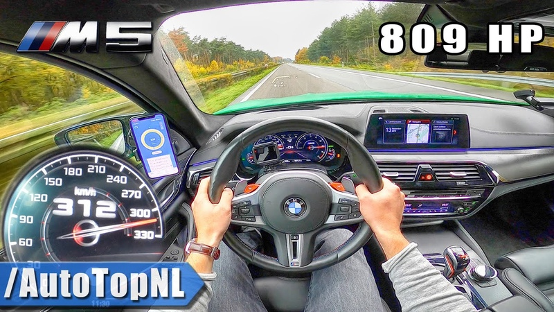 809HP BMW M5 F90 | 312km/h AUTOBAHN POV (NO SPEED LIMIT) by AutoTopNL