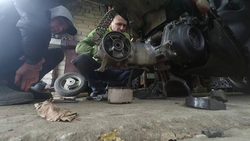 Yamaha JOG C Редуктор Ямаха джог С Про шаурму и ремонт редуктроа