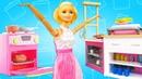 Видео про игрушки. Кукла Барби ждет гостей. Игры в готовку на кухне
