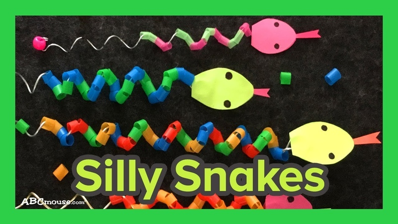 Art Activity for Kids: Silly Snake Craft by ABCmouse.com