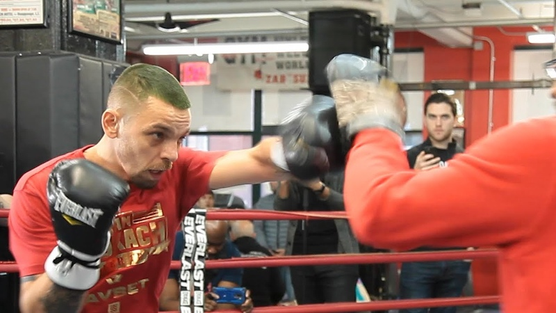 Ivan Redkach's FULL MEDIA WORKOUT ahead of Danny Garcia fight l Showtime Boxing