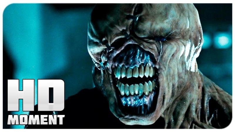Первый бой Элис и Немезиса - Обитель Зла 2 Апокалипсис (2004) - Момент из фильма