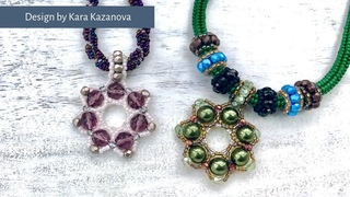 Gemma pendant tutorial | Bead Weaving | Beaded necklace | Project Long Necklace