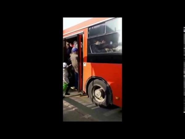 В 40 автобус не залезть