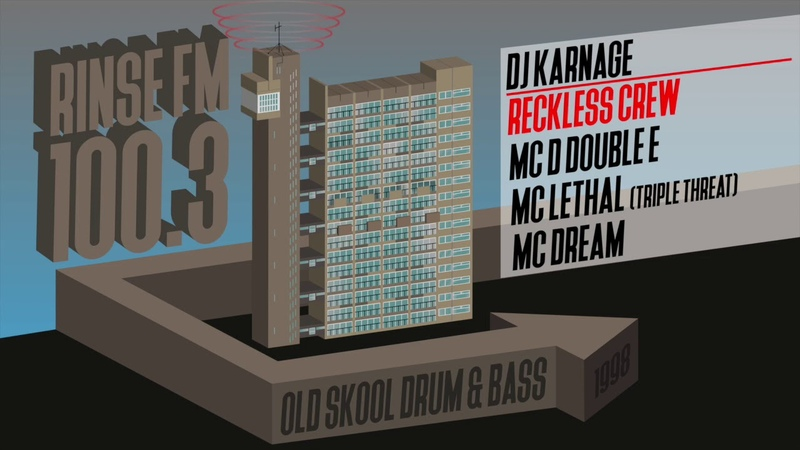 D Double E and Lethal Reckless Crew MC Dream DJ Karnage Rinse FM 100 3 1998 Jungle DNB set