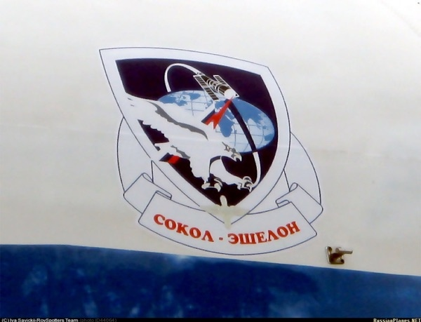Знаки отличия на самолете, используемом для проекта Сокол-Эшелон. (Фото: Иван Савицкий)