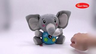 """ТМ """"Smart Baby"""" Развивающая игрушка Слон, 17 звуков природы , сказок, мелодий, потешекJB0333388"""