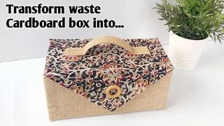 DIY CARDBOARD BOX DECORATION/DIY CARDBOARD BOX CRAFT IDEA/ CARDBOARD BOX REUSE IDEAS/BEST  OF WASTE