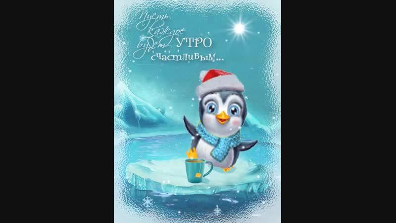 живая открытка доброе утро пингвин говоря, супрадин