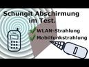 Schungit-Schutz im Test mit WLAN- und Handystrahlung. DE