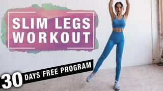 Slim Legs Workout | Thigh Fat Burning Workout (No Jumping) | Free Program