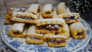 Песочное печенье с яблоками изюмом и корицей .НЕРЕАЛЬНО ВКУСНОЕ печенье с начинкой к чаю