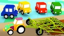Мультфильм про машинки на ферме Новые серии 4 машинки 2 сезон Развивающие мультики для малышей