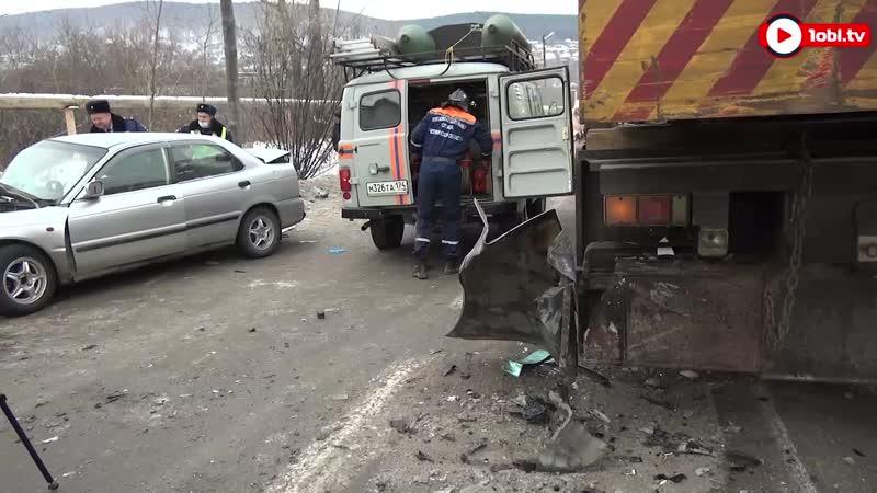 Авария с автокраном в Златоусте