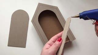 DIY Wall decor cardboard | Cardboard idea | Handmade Key Holder from cardboard