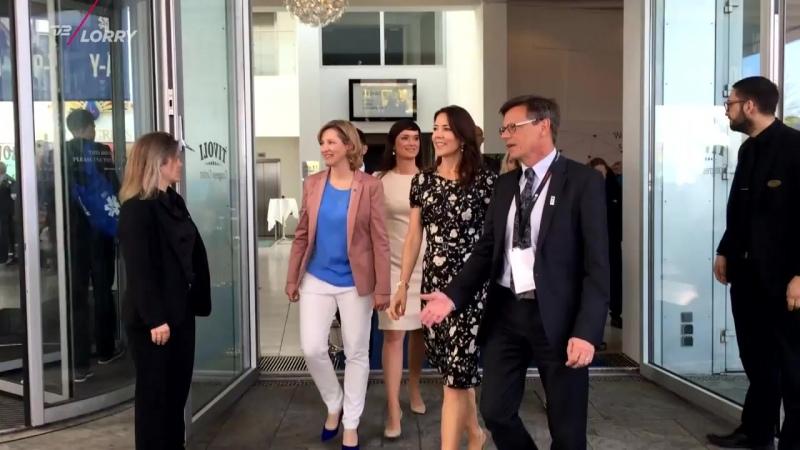 Kronprinsesse Mary indvier konference om beredskab TV 2 Lorry