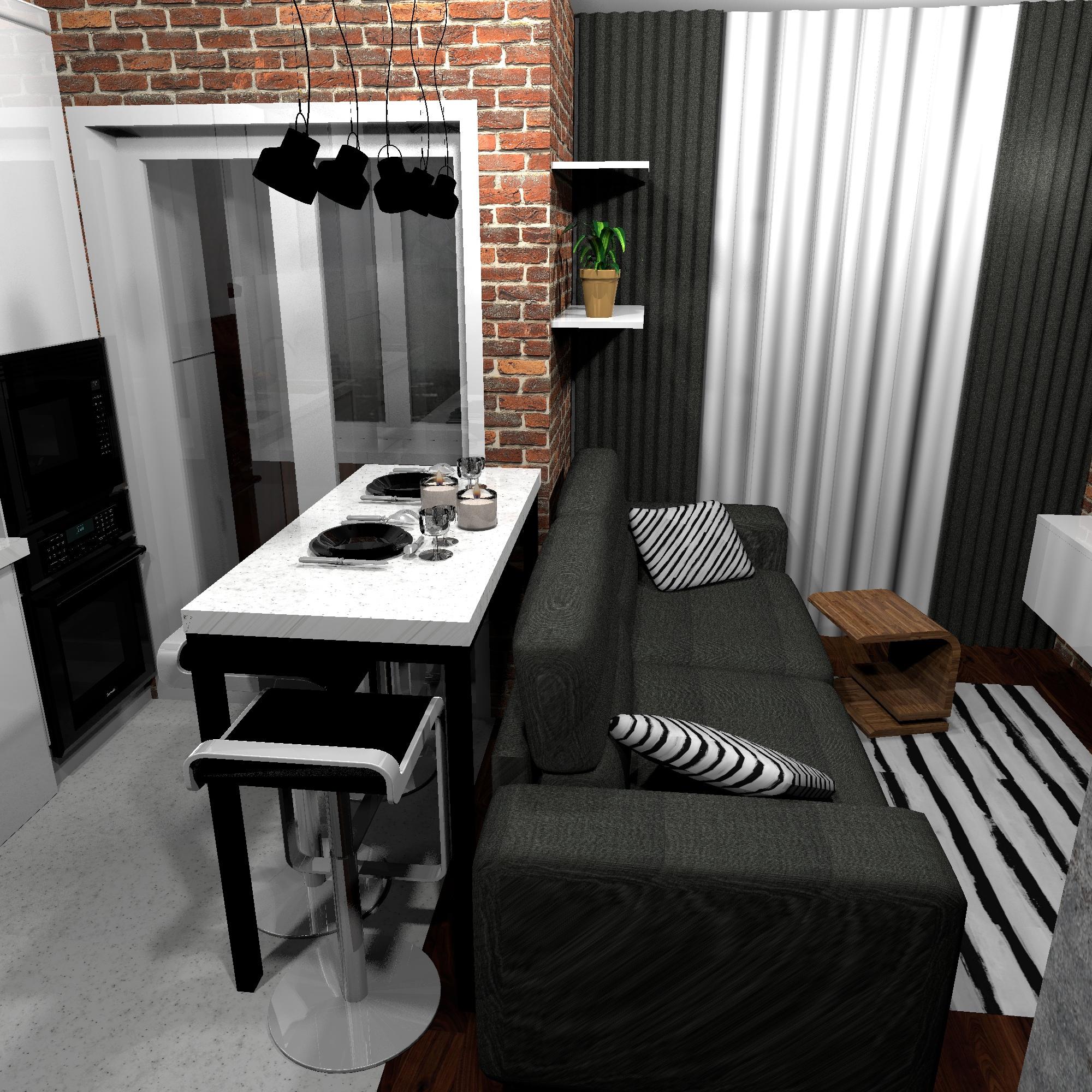 Проект маленькой квартиры-студии 23,3 кв.