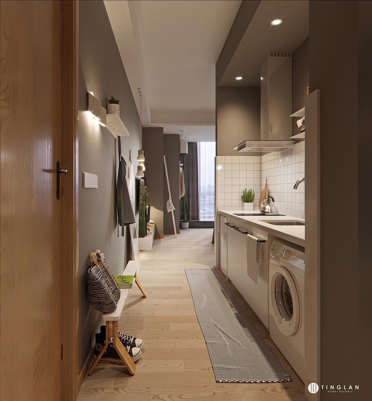 Проект квартиры-студии, метраж не указан.