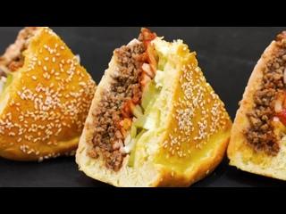 Попробовав этот мясной пирог, навсегда забудете о Макдональдсе! Пирог _Чизбургер_ (720p)
