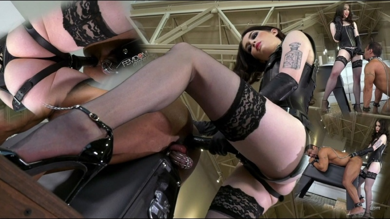 Evelyn Claire Crying for Cock Femdom, Strap on, Pegging, Anal, Chastity,