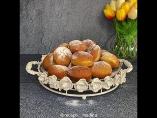 """Пончики """"Берлинеры"""" (ингредиенты в описании видео)"""