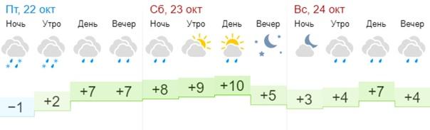 Смотрим погоду на выходные и соглашаемся с людьми,...