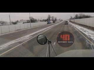Губкинский район. В с. Сергиевка водитель грузовика не справился с управлением, съехал с дороги и снёс часть ограждения