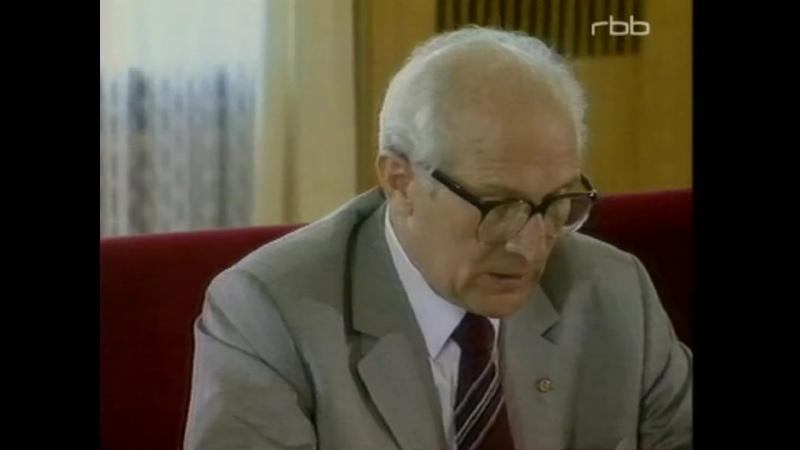 Den Sozialismus in seinem Lauf halten weder Ochs noch Esel auf Erich Honecker